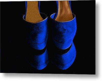 Blue Suede Shoes Metal Print by Nancie Rowan