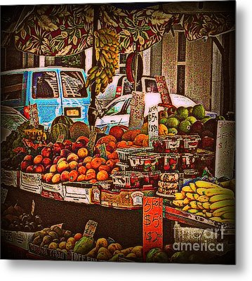 Blue Van Metal Print by Miriam Danar