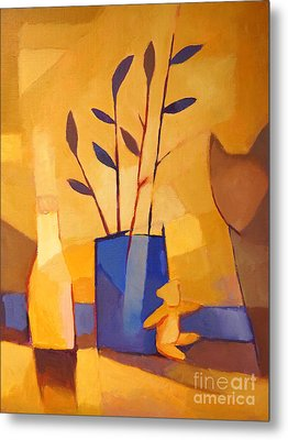 Blue Vase Metal Print by Lutz Baar