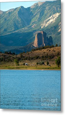Metal Print featuring the photograph Blue Water And Needlrock by Eric Rundle