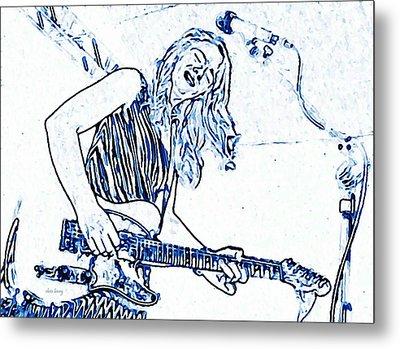 Blues In Blue Metal Print by Chris Berry