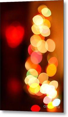 Blurred Christmas Lights Metal Print by Gaspar Avila