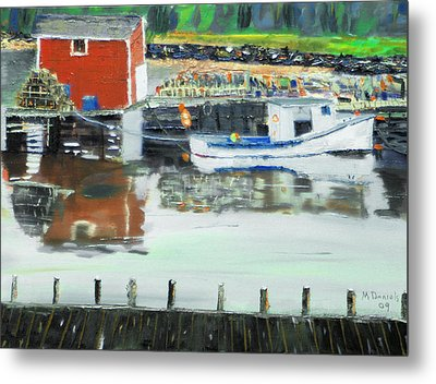 Boat At Louisburg Ns Metal Print