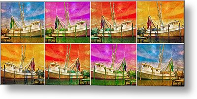 Boat Of A Different Color Metal Print by Betsy Knapp