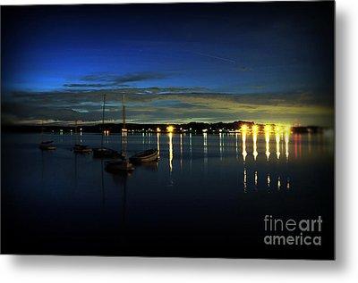 Boating - The Marina At Night Metal Print by Paul Ward