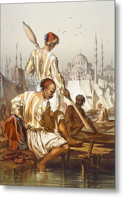 Boatmen, 1865 Metal Print by Amadeo Preziosi