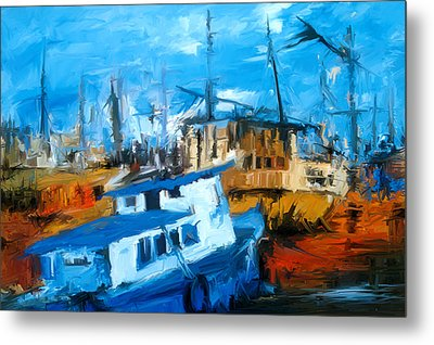 Boatyard Metal Print by Amir