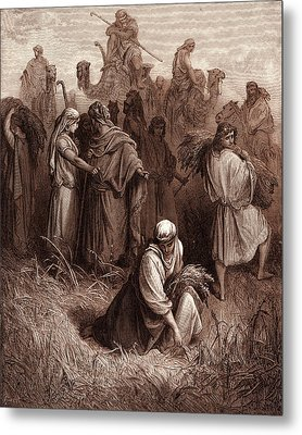 Boaz And Ruth, By Gustave Dore Metal Print by Litz Collection