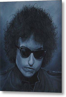 Metal Print featuring the painting Bob Dylan Iv by David Dunne