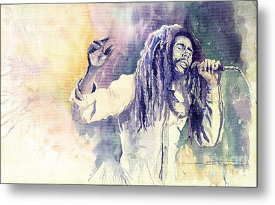 Bob Marley Metal Print by Yuriy  Shevchuk