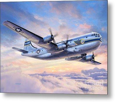 Boeing Yc-97a Stratofreighter Metal Print by Stu Shepherd