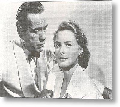 Bogart And Bergman Metal Print