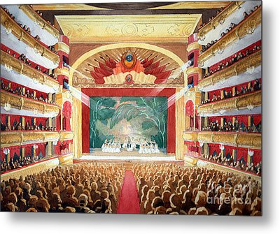 Metal Print featuring the painting Bolshoi Ballet by Lora Serra