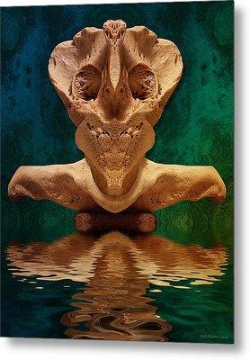 Boneface 7 Metal Print by WB Johnston