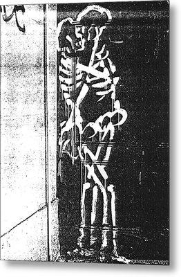 Metal Print featuring the digital art Bones by Randall Henrie
