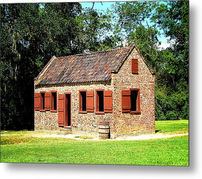 Boone Hall Plantation Slave Quarters Metal Print