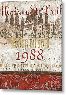 Bordeaux Blanc Label 1 Metal Print by Debbie DeWitt