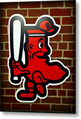 Boston Red Sox 1950s Logo Metal Print by Stephen Stookey