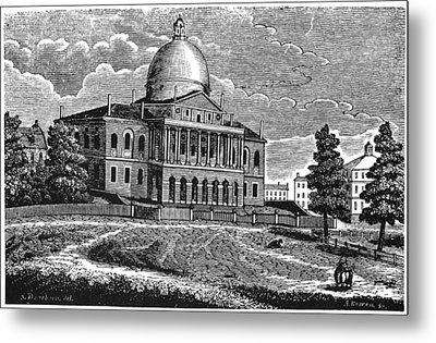 Boston State House, 1817 Metal Print