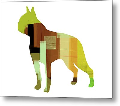 Boston Terrier Metal Print by Naxart Studio