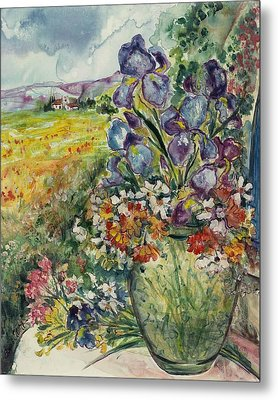 Bouquet De Provence Metal Print by Elaine Elliott