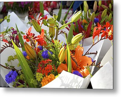 Bouquets Of Color Metal Print by Terry Horstman