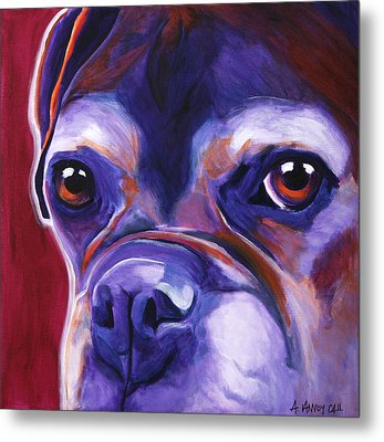 Boxer - Wallace Metal Print by Alicia VanNoy Call