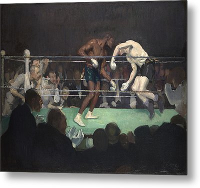 Boxing Match, 1910 Metal Print by George Luks