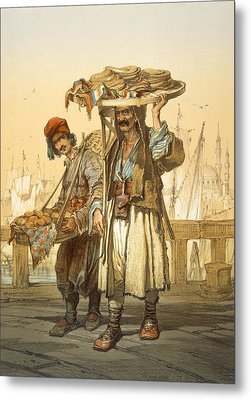 Bread Sellers On The Quay, 1865 Metal Print