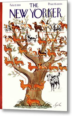 Breeds Tree Metal Print by Constantin Alajalov