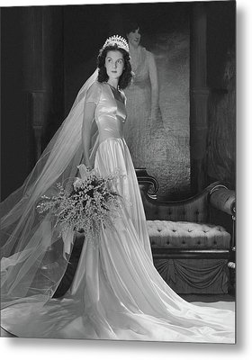 Brenda Frazier In A Herman Patrick Tappe Wedding Metal Print