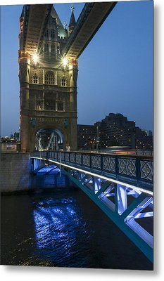 Bridge At Night Metal Print by Svetlana Sewell