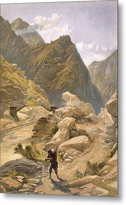 Bridge Over The Sutlej At Wangtoo Metal Print by William 'Crimea' Simpson