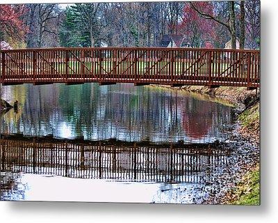 Bridge Over Water Metal Print by Paul Ward