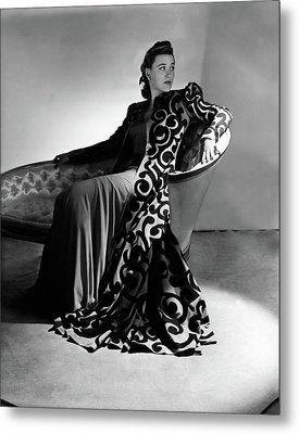 Bridget Bate Tichenor Sitting On A Chaise Lounge Metal Print