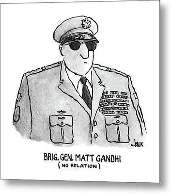 Brig. Gen. Matt Gandhi Metal Print by John Jonik