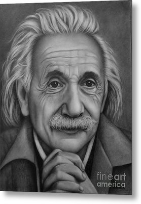 Metal Print featuring the painting Brilliant Mind by Paula L