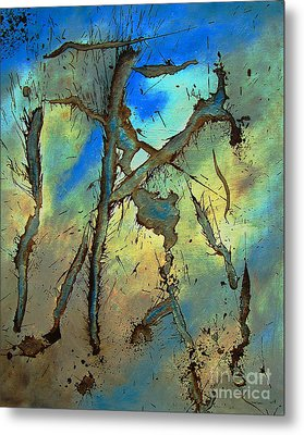 Metal Print featuring the painting Brillig by Stuart Engel