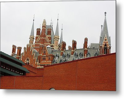 British Library And St. Pancras Metal Print by Pat Purdy