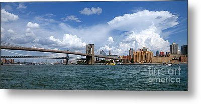 Brooklyn Bridge Panorama Metal Print by Amy Cicconi