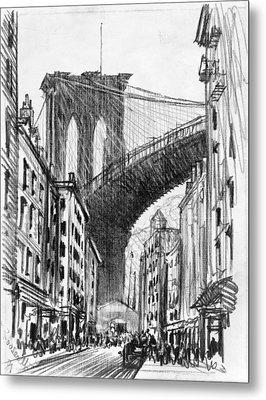 Brooklyn Tenements, C1909 Metal Print by Granger