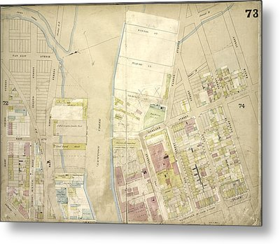 Brooklyn, Vol. 4, Double Page Plate No. 73 Map Bounded Metal Print by Litz Collection