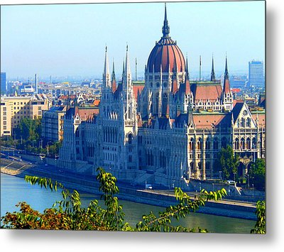 Metal Print featuring the photograph Budapest Parliament by Kay Gilley