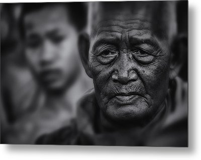Buddhist Monk Bw1 Metal Print by David Longstreath