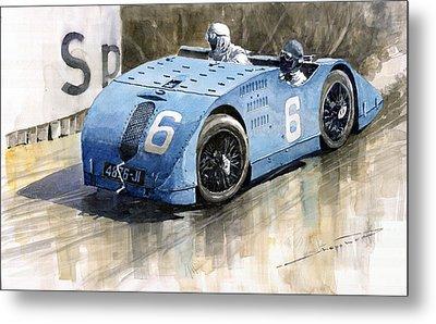 Bugatti Type 32 Tank 1923 French Gp  Metal Print by Yuriy  Shevchuk