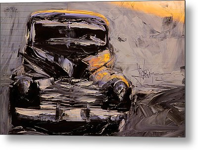 Metal Print featuring the digital art Buick Eight by Jim Vance