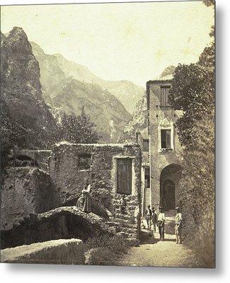 Buildings In The Valle Dei Molini, Amalfi Metal Print