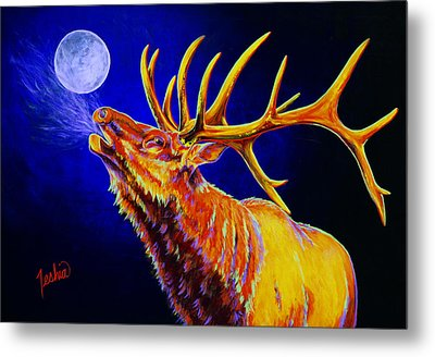 Bull Moon Metal Print by Teshia Art