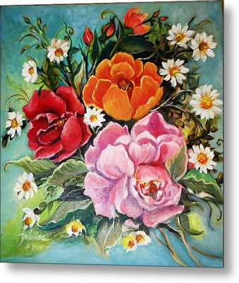 Bunch Of Flowers Metal Print by Yolanda Rodriguez