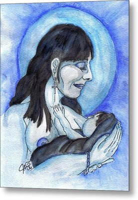 Metal Print featuring the painting Bundled by The GYPSY And DEBBIE